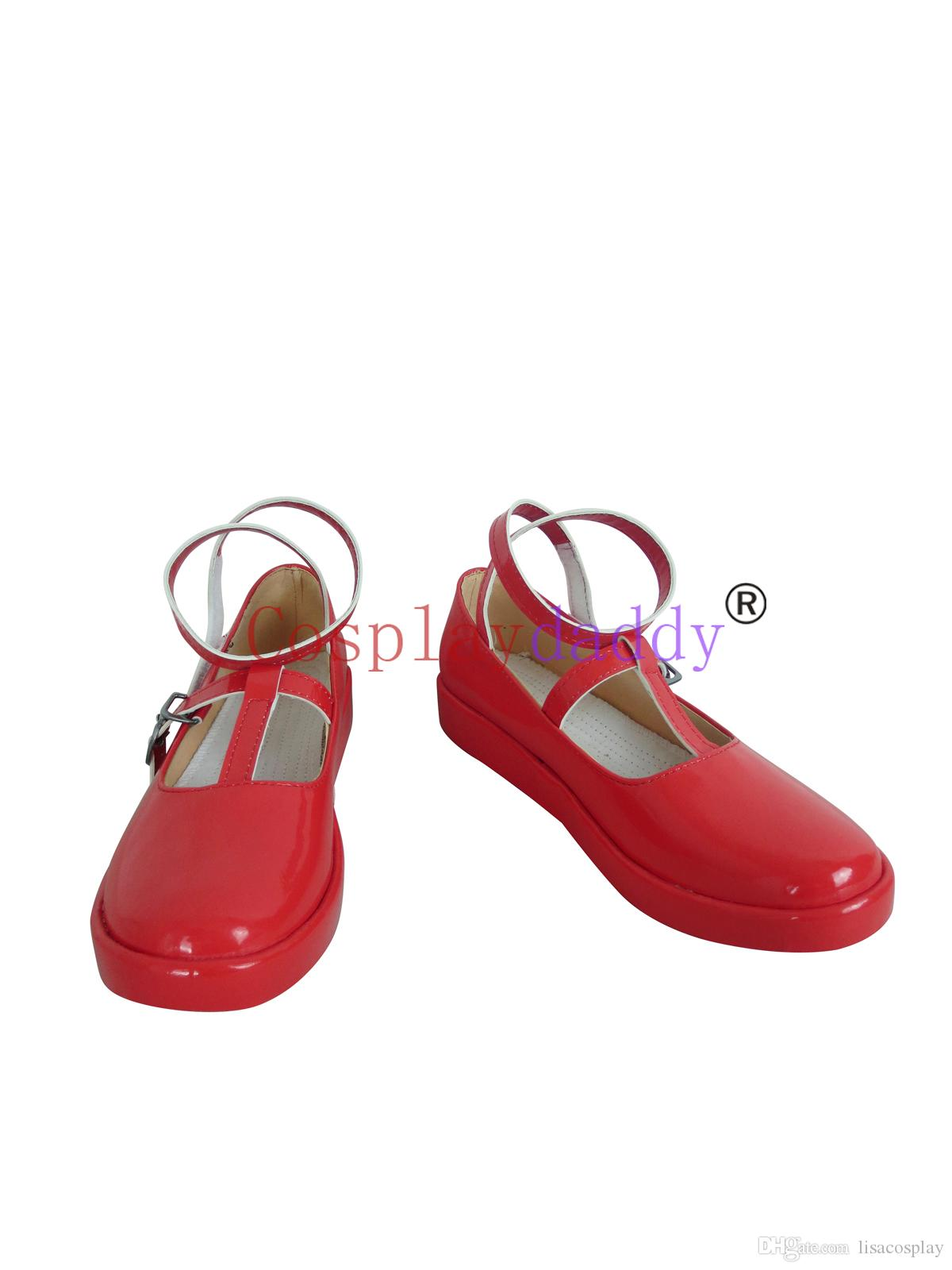 Wonderful Wonder World Alice Red Cosplay Daily Shoes C006