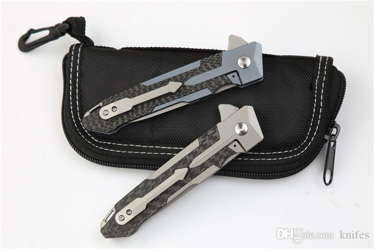 Sparta flipper folding knife S35VN blade TC4 titanium+Carbon fiber handle camping survival knives EDC tool xmas gift for man