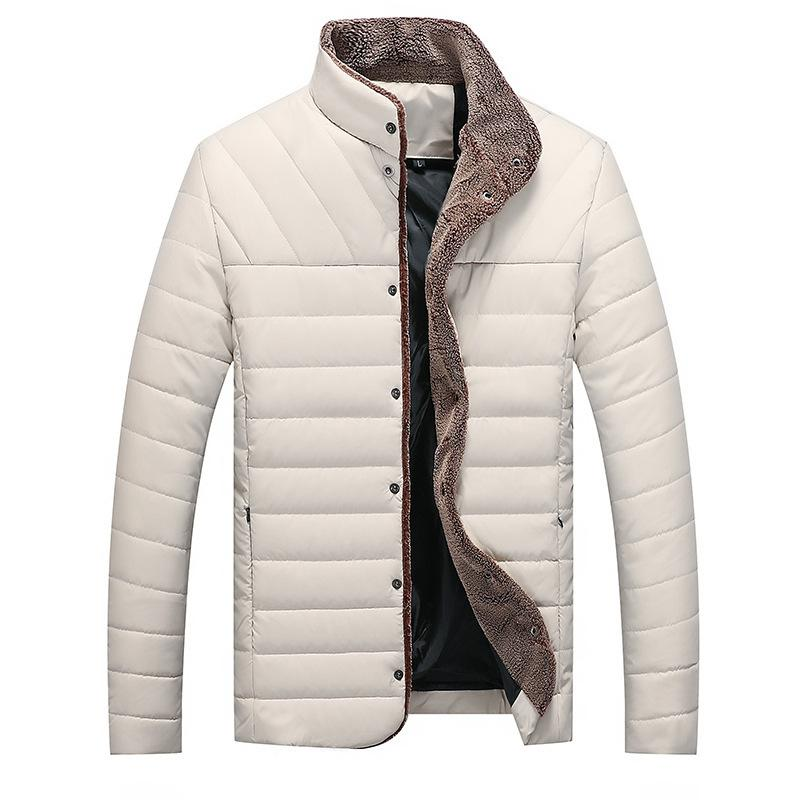 be8c36b52 Parka Men 2018 Winter Jacket Men Coat Slim Casual Cotton Padded Hombre Faux  Leather Parka Mens Coats Jackets Warm Thick Outwear