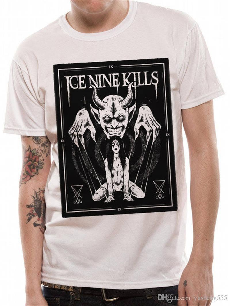 Cheap T Shirts Online Crew Neck Short Ice Nine Kills Printing Mens