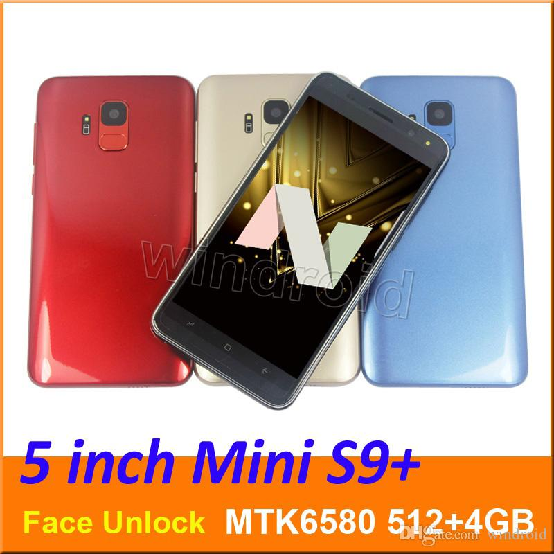 5 0 inch Mini s9 Quad Core Smart phone MTK6580 512 4G Android 7 0 Dual SIM  CAM 5MP 3G WCDMA Unlocked Mobile Gesture face unlock Edge panels