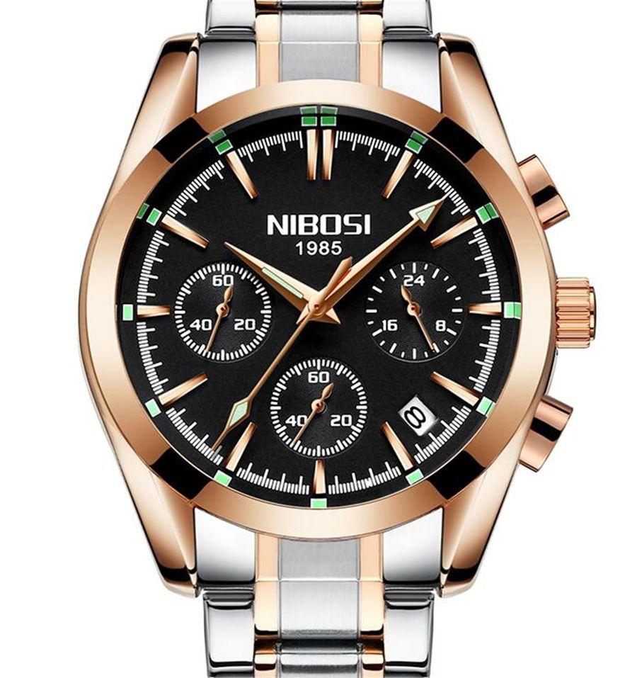9eab85b9b58c Compre NIBOSI Hombres Marca Sport Reloj Impermeable Reloj De Cuarzo De Los  Hombres Masculino De Acero Completo Reloj De Negocios Casual Relogio  Masculion A ...