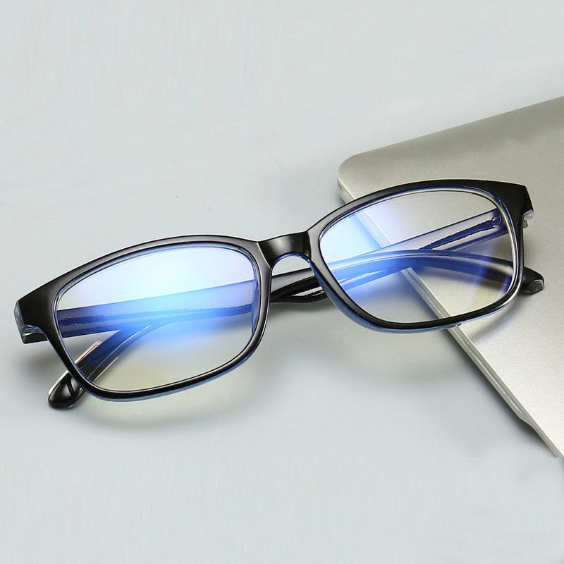 7ddca89a6ae 2019 2018Anti Blue Rays Computer Glasses Women Men Anti Blue Radiation  Protection Flat Mirror Square Myopia Frame Eyeglasses From Watchoutmate