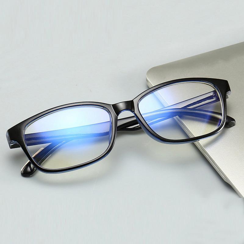 Compre 2018Anti Raios Azuis Óculos De Computador Mulheres Homens Anti Azul  De Radiação De Proteção Espelho Plano Quadrado Miopia Quadro Óculos De ... 417846c705