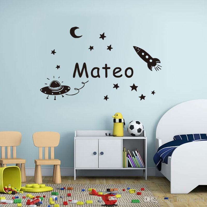 Space planet wall sticker personalized name kids wall decal vinyl space planet wall sticker personalized name kids wall decal vinyl decorative baby wall decals custom gift for birthday wall decals sayings wall decals negle Images