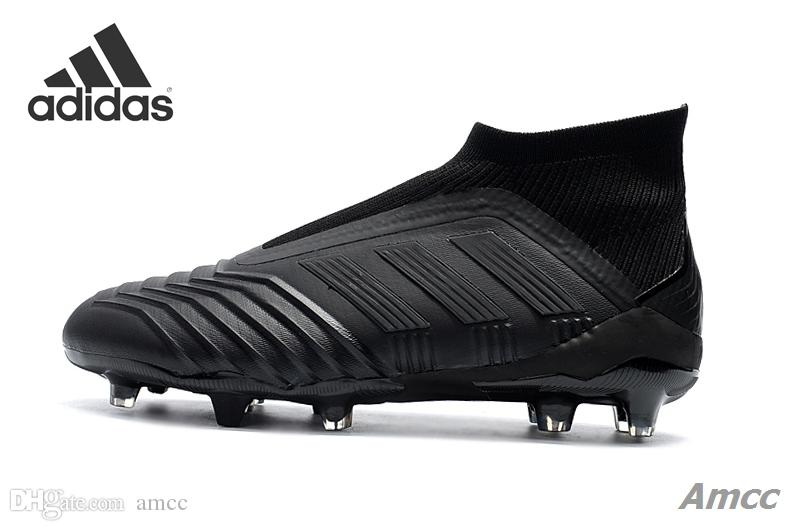 size 40 3851b 9c8f2 2018 Adidas X 18+ Soccer Cleats 2018 World Cup Predator 18 Firm Ground  Cleats Mens Football Boots Paul Pogba Football Shoes Zapatos With Box From  ...