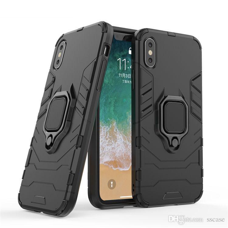 3cb82eea950 Diseños De Carcasas Para Celulares Para IPhone XR XS Max 8 7 6 6s 5 5s Plus  Funda De 360 grados Anillo Giratorio Grip Kickstand A Prueba De Golpes Funda  ...