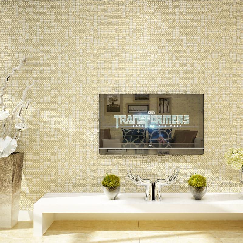 Acheter Blanc Beige Mosaique Treillis Papier Peint Moderne Simple