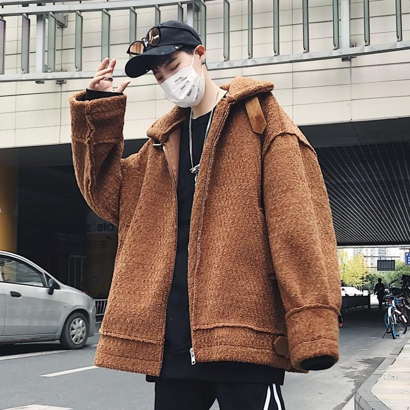adc79f746dcaa 2019 2018 Korean Winter Men S Fashion Lamb Lapel Thickening Cotton Padded  Clothes Loose Casual Warm Solid Color Jackets Coats M 2XL From Vanilla06