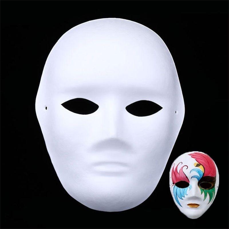 Satın Al Diy çocuk Sanat Boyama Masquerade El Yapımı Hamuru Beyaz