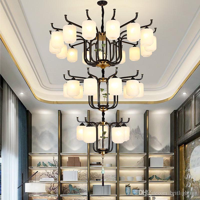 Acquista Villa Duplex Grande Lampadario Illuminazione A Tre Strati ...