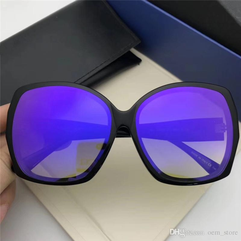 2018 Oversized Lady Sunglass Square Big Frame Sunglass Vintage Plank Ultralight Sun Glass Fashion Style Sunglass For Shopping Beach With Box