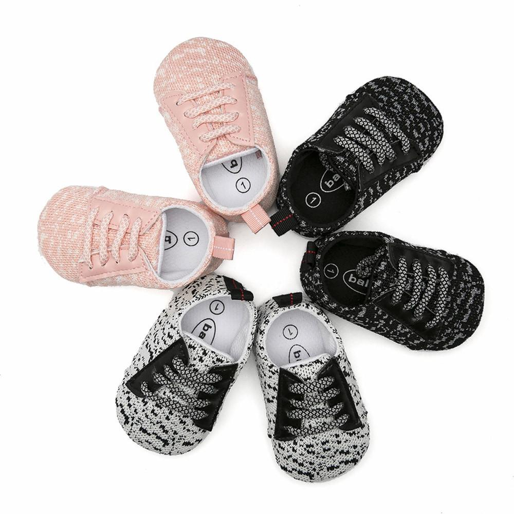 ab0ffe1d3 New Trendy 2018 Newborn Toddler Baby Boys Girls Crib Prewalker Soft Sole  Anti Slip Shoes Sneakers For Babies Good Running Shoes For Girls White  Tennis Shoes ...