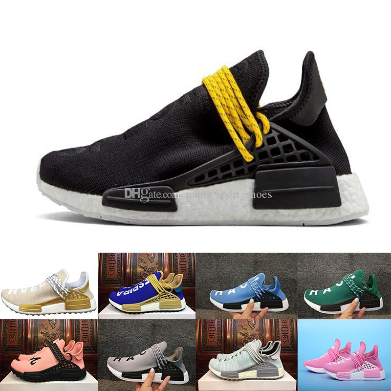 new concept 107c7 e6e21 Pharrell Williams HU NMD Sneakers Trail Human Race Mens Women Running  Trainers Shoes wholesale