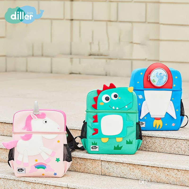6dfb5f472d 3D Dinosaur School Bags Animal Schoolbag Baby Boys Girls Fashion Children  Backpack Shoulder Kids Book Bags Backpackes Popular Brands Of Backpacks  From ...