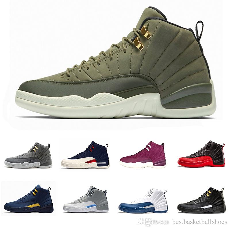 sale retailer 6627f 10329 High Quality Graduation Pack 12 12s Michigan mens basketball shoes Class of  2003 French Blue College Navy Flu Game taxi Hot Sports sneakers