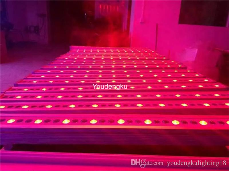 4 pezzi progetto led esterni ip65 dmx dimming 36x3w rgb cina led wall washer luce impermeabile led wallwasher rgb