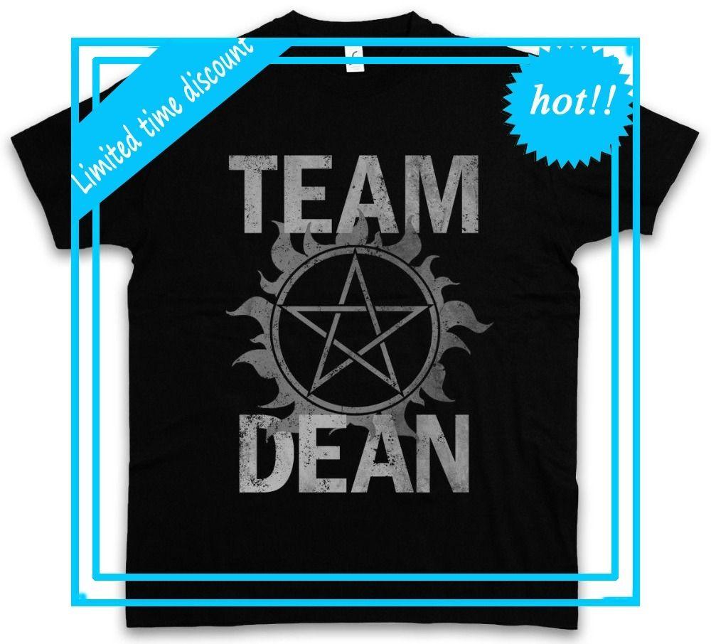 New Design T Shirt Men Brand Clothing Fashion Team Dean Supernatural