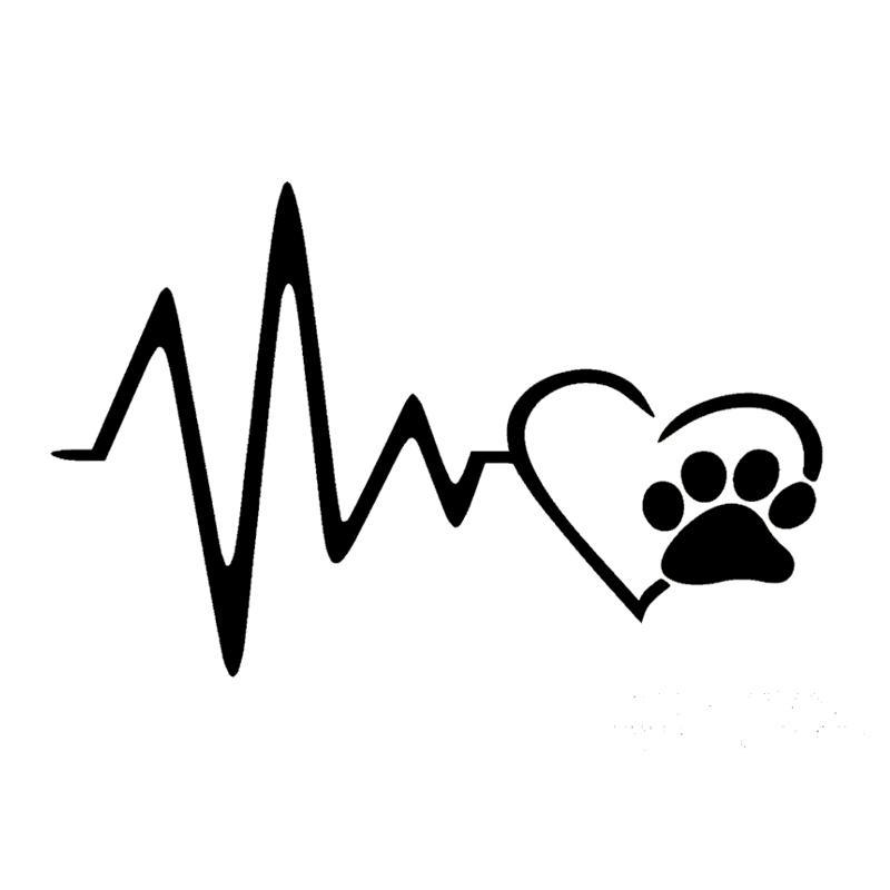 Herzschlag Tatze Hund Katze Haustier Liebhaber Tier Kunst Auto Aufkleber Autoplanen Vinyl Aufkleber Jdm