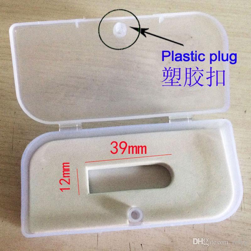 환경 보호 투명한 선물 상자 PP 포장 크기 45x95x22MM 직사각형 USB 상자 플라스틱 포장 상자