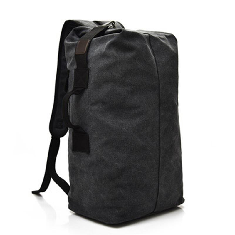 bd1d1beeaa43 Vintage Canvas Men Backpack Casual Travel Backpacks Man Daily Bucket Shoulder  Bags Large Capacity Rucksack For Boys Small Backpack Backpack Brands From  ...