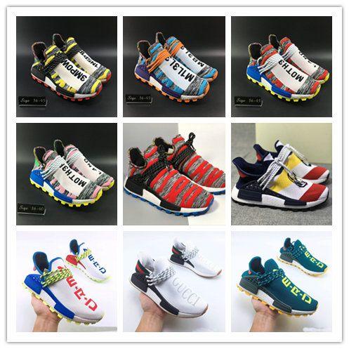 b0f4cf41cc043 New Aqua Creme X NERD Solar PacK Human Race Running Shoes Pharrell Williams  Afro Hu Trail Trainers Men Women Sports Trainer Runner Sneakers Clogs For  Women ...