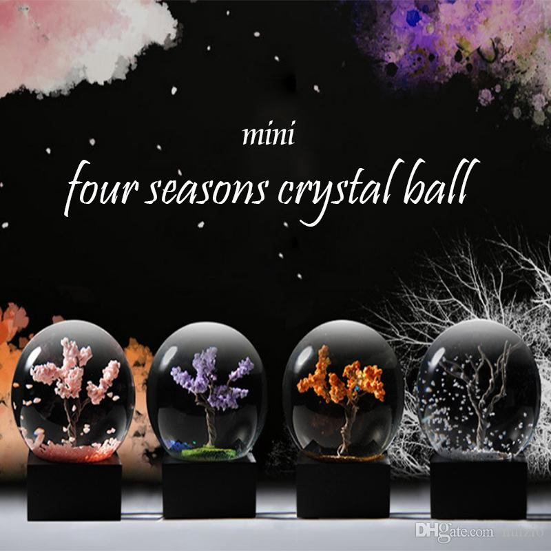 Spring Summer Autumn Winter Four Seasons Creative Crystal Ball Home Decoration Mini Snowflake Suit Gifts For Family And Friends