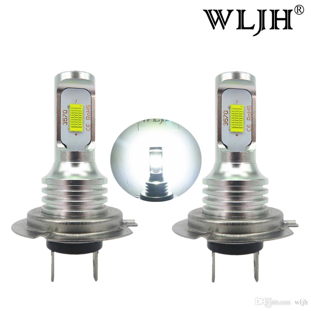 Wljh Canbus Led H7 Fog Light Bulb Auto Car Motor Truck Driving Daytime Running Bulbs 12v 24v For Cars Kits