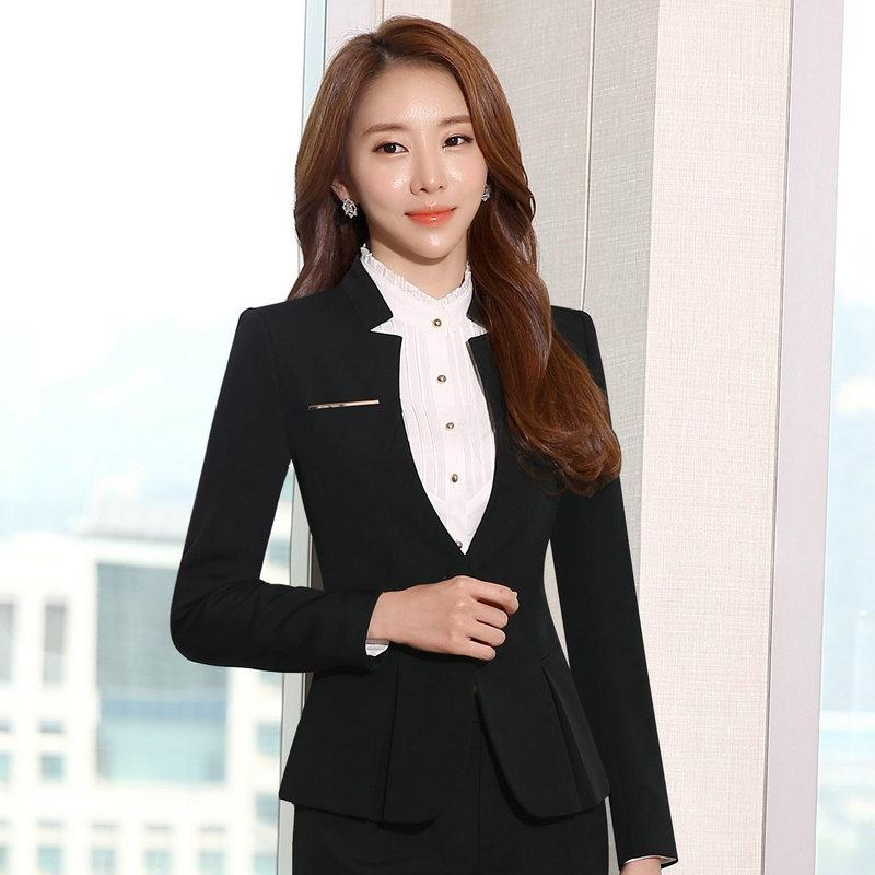e171e09a6ac 2019 Office Blazers For Women New Korean Ladies Blazer Jackets White 3XL  Plus Size One Button Slim Office Blazers For Women Suit Coat From  Cosplay 003