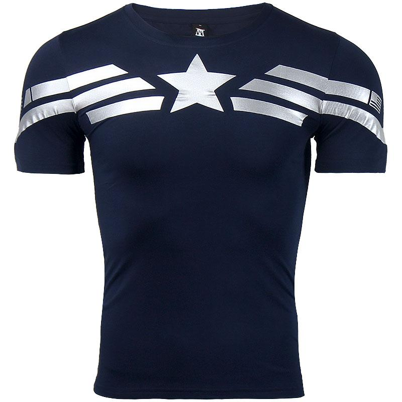 Compre Capitán América Camiseta 3d Impreso Camisetas Hombres Avengers Iron  Man Camiseta De Guerra Civil Algodón Fitness Ropa Hombre Crossfit Tops A   25.69 ... f2fcbee200a97