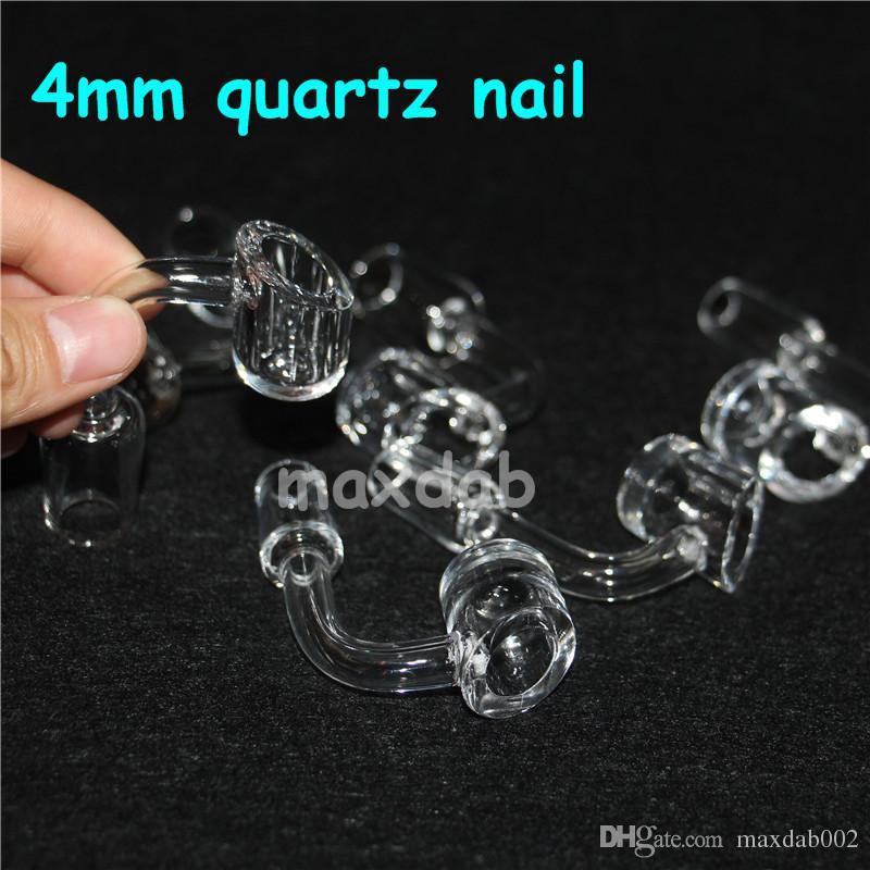 4 mm grosso clube banger domeless quartzo prego 10 mm / 14 mm / 18 mm, masculino / feminino. 100% reais bangers de quartzo + frete grátis!