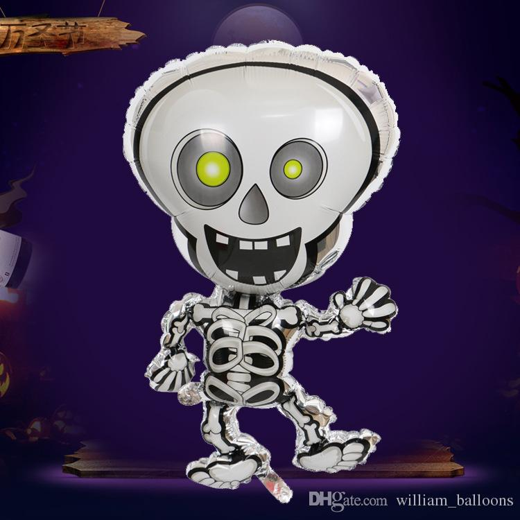 cartoon dancing skeletons halloween foil balloons skull cheap halloween party decoration balloon kids helium globos inflatable toys balloon decorations for