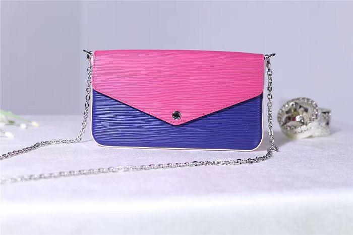 M61754 POCHETTE FELICIE Handbag Epi Leather Evening Bag TOP OXIDIZED REAL  LEATHER ICONIC BAGS SHOULDER BAG TOTES CROSS BODY MESSENGER BAGS Evening  Bags ... e7a3889c4c5ae