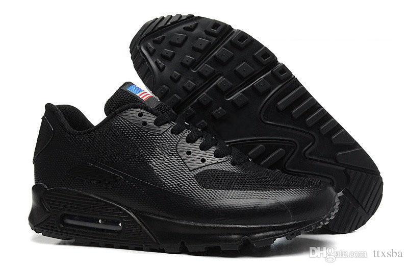 HY PRM QS 90 Homens Mulheres Running Shoes 90 s HyperS fusível Bandeira Americana Preto Branco Azul Marinho Prata Esporte Formadores de Ouro
