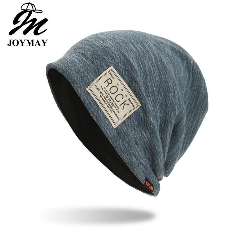 0f97a1f781d Joymay Winter Autumn Beanies Hat Unisex ROCK Label Warm Soft ...