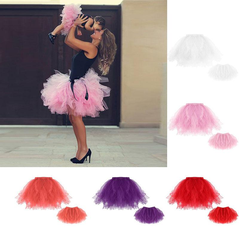 Mother and daughter clothes family matching clothes baby girls TuTu skirts 2018 new daughter skirts+mom skirts 2pcs/set C3575