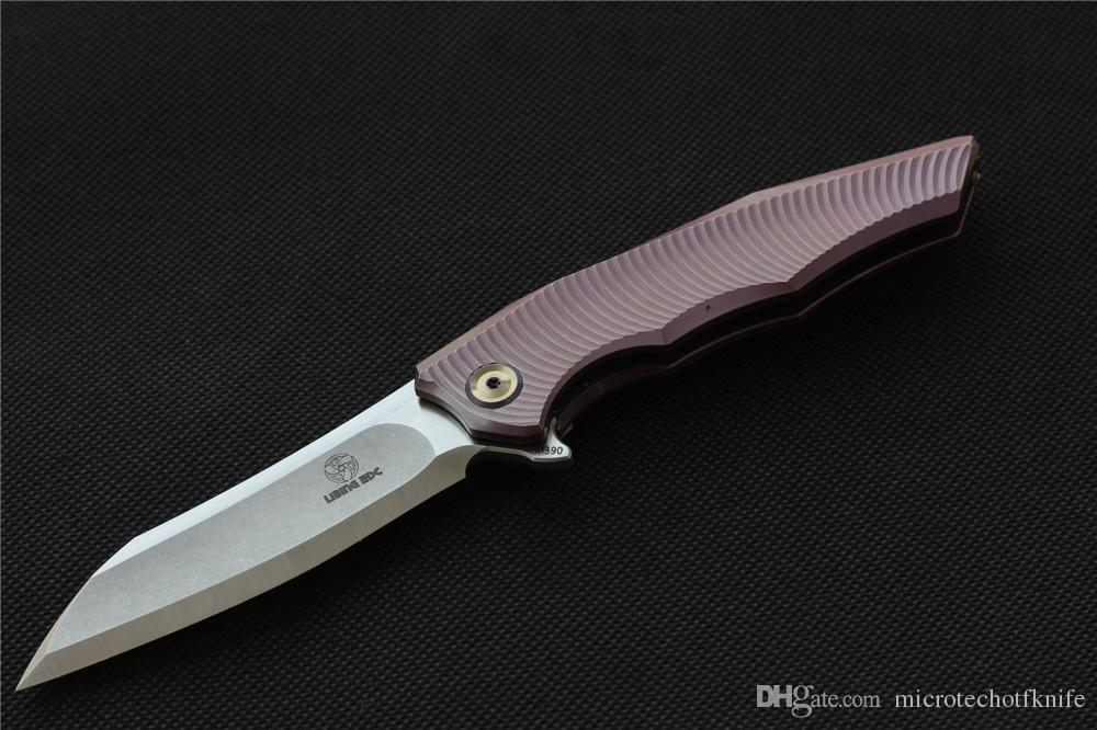 LiBing orijinal Elf açık Flipper Katlanır bıçak M390 blade, TC4 Titanyum kolu Taktik kamp survival Bıçaklar EDC araçları