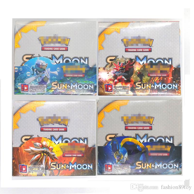 Trading Cards Games Sun&Moon Evolution Version 4 Styles Anime Pocket Monsters Cards Toys Super Heros =32bags=1box Playing Cards