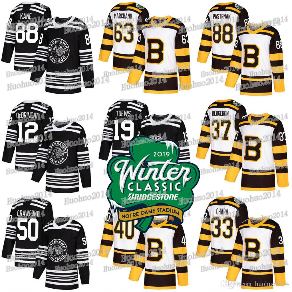 best website 04352 7fb0f 2019 Winter Classic Jerseys Blackhawks Alex DeBrincat Jonathan Toews  Patrick Kane Bruins David Pastrnak Patrice Bergeron Tuukka Rask Jersey