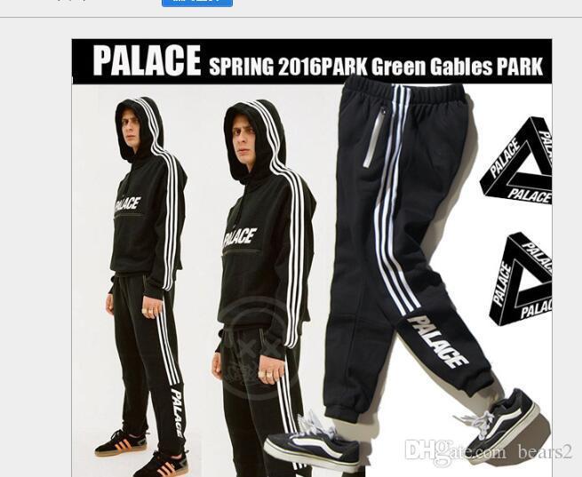 Wholseale Skateboard Sweatpants Men Women 3 Strips Ankle banded Sportsuit Cotton Fashion Skateboards Patchwork Haren pants Free Shipping