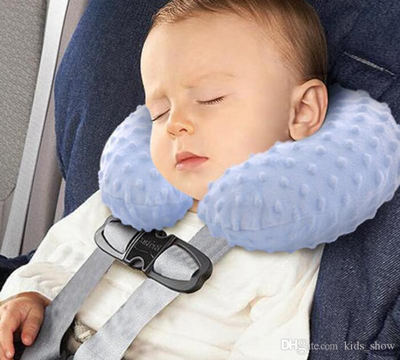 soft Baby Car Inflatable Pillows Infant U Shape Pillows Travel Air-filled Pillow Travel Car Seat Pillow Cushion