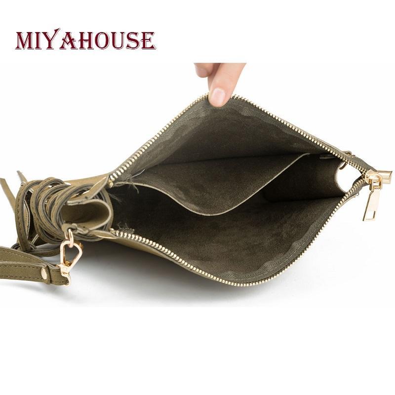 Borsa a tracolla di design della cinghia di cuoio dell'unità di elaborazione delle donne della borsa della frizione di Miyahouse con mini borsa del messaggero del crossbody delle donne del cinturino