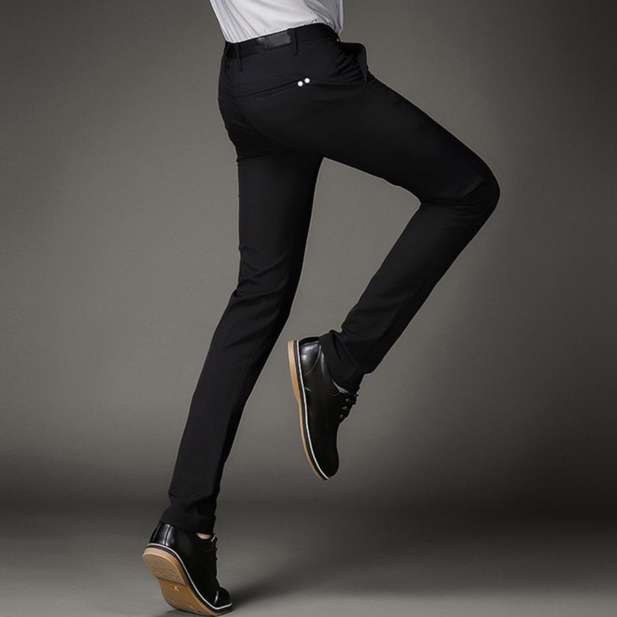 2e3080e7c 2019 Black Stretch Skinny Dress Pants Men Party Office Formal Mens Suit  Pencil Pant Business Slim Fit Casual Male Trousers From Yesterlike, $46.88  | DHgate.