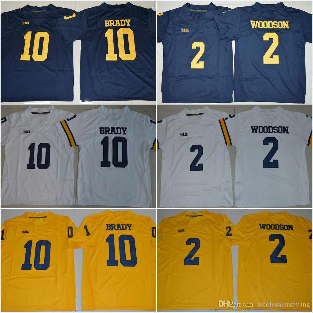 10 Tom Brady  4 Jim Harbaugh  5 Jabrill Peppers  2 Charles Woodson  21  Desmond Howard 2018 New Michigan Wolverines College Stitched Jerseys UK  2019 From ... 74afca5bf