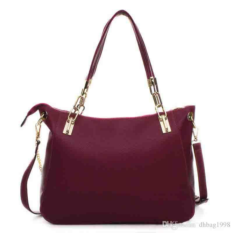 2018 Hot Sell Women Messenger Bag Totes Bags New Lady Plain Handbag Bag  Portable Shoulder Bags Handbags PU Leather Bag  8875 Side Bags Handbag  Brands From ... 551be90c3ab62
