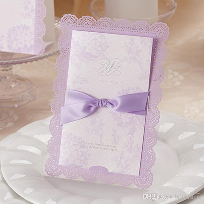 Texto Convite Casamento Convites De Casamento Simples Lavanda