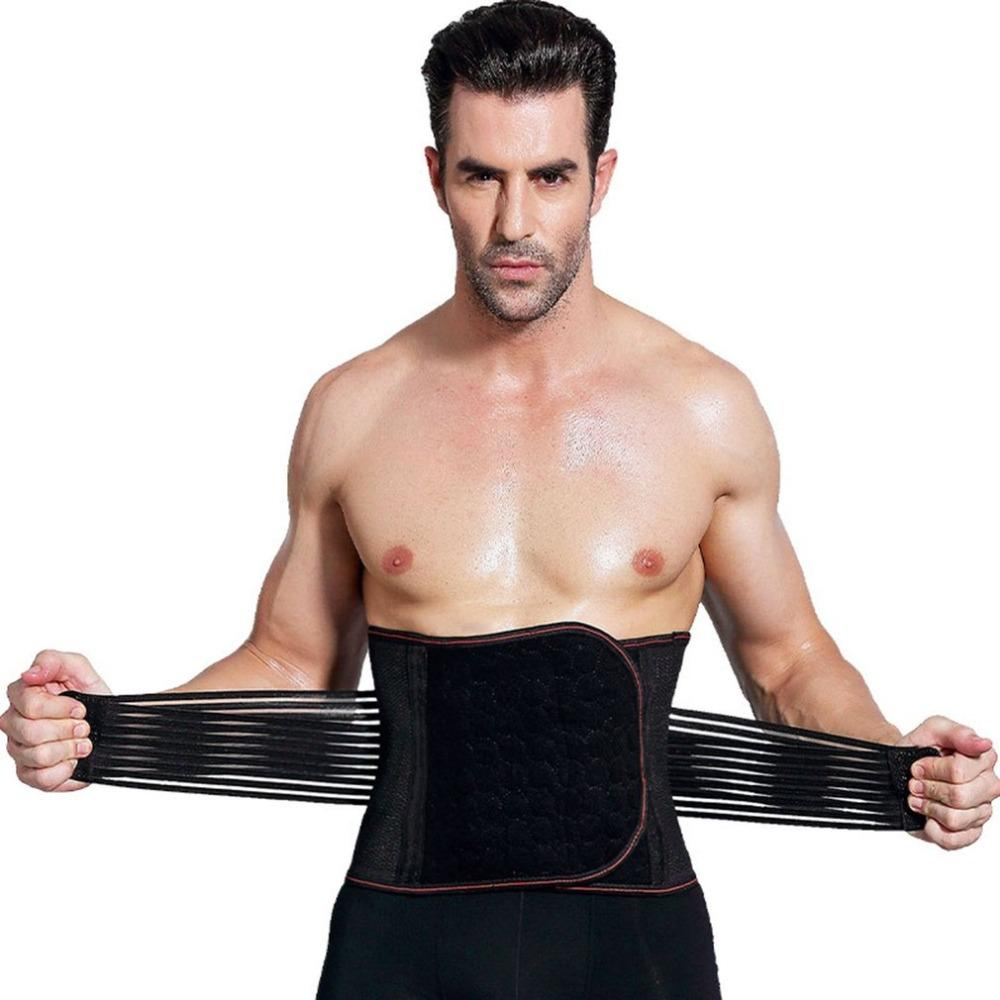 46c16c18dc 2019 Waist Belt For Men Abdomen Fat Burning Girdle Belly Body Sculpting Shaper  Corset Cummerbund Tummy Slimming Belt Waist Trainer From Honry