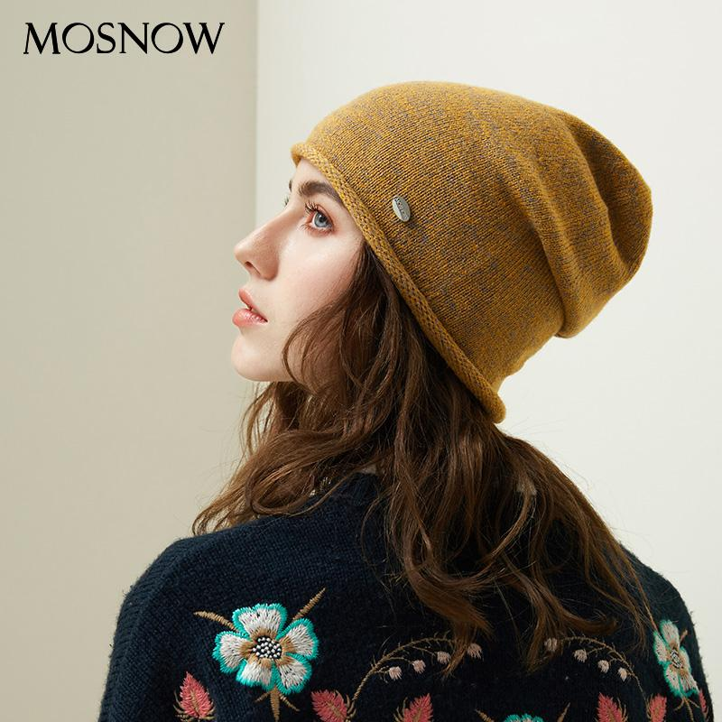 94c24c8cbbb Autumn Women Beanie Hats Female 2018 New Winter Knitted Slouchy Caps Wool  Warm Beanies For Girl Candy Color Young Stylish Hat Knitted Hats Knit Cap  From ...