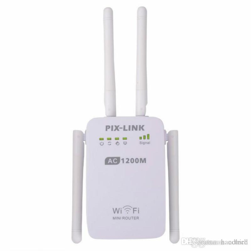 PIXLINK 11ac 1200M WIFI Repeater Router Access Point 2 4&5Ghz Dual Band  Wireless Wi-Fi Amplifier Extender With 4 External Antennas