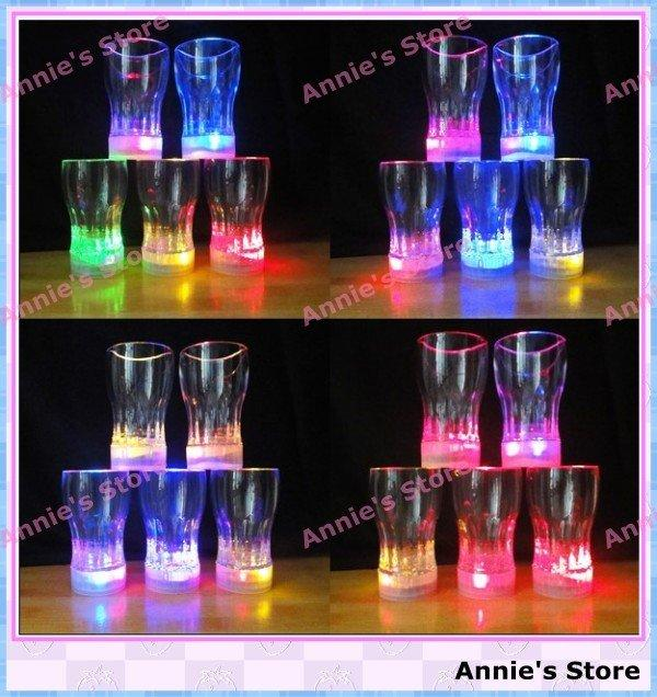 Wholesale LED BEER MUG, LED flashing beer cup, fancy light glass, 7 colors  changing, big free shipping